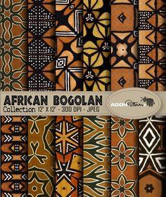 AFRICAN indigo Patterns pack of 12 - Africa - digital paper scrapbook - print Pack de 12 motifs Afri African Interior, African Home Decor, Tribal Patterns, Textile Patterns, African Patterns, Paper Patterns, Floral Patterns, African Textiles, African Fabric