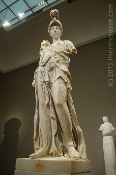 Athena goddess of wisdom and war. Frankfurt, Germany
