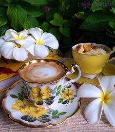 I enjoy Tea/Coffee in a lovely setting:) Coffee Vs Tea, Coffee Cup Art, Coffee Is Life, Coffee Latte, I Love Coffee, Sunday Coffee, Good Morning Coffee, Coffee Break, Coffee Time