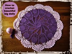 How to Crochet Beautiful Big Doily, It is a video tutorial how to crochet this beautiful Beautiful Big Doily. Another creation of crochet art ! This Pattern is adorable and easy to make. Try This Super Easy And Beautiful Crochet! You Will Be Happy With Your Creation. One Of The Best Video Tutorials We Have …