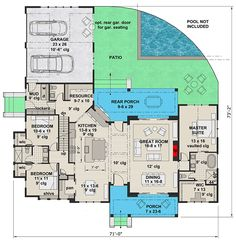 Find your dream modern-farmhouse style house plan such as Plan which is a 2287 sq ft, 3 bed, 2 bath home with 2 garage stalls from Monster House Plans. New House Plans, Dream House Plans, House Floor Plans, Dream Houses, Log Houses, Modern Farmhouse Plans, Farmhouse Design, Farmhouse Style, Farmhouse Door