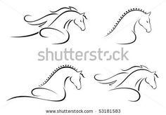 horse head lines, http://www.shutterstock.com/
