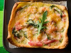 Yhteishyvä: Kinkku-rucolapiirakka Vegetable Pizza, Food And Drink, Vegetables, Breakfast, Recipes, Quiches, Waiting, Morning Coffee, Rezepte