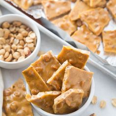Peanut brittle is a classic holiday treat. Make this microwave peanut brittle today! Just a few ingredients, quick cook time, and a tasty Christmas recipe. Homemade Peanut Brittle, Peanut Brittle Recipe, Microwave Peanut Brittle, Brittle Recipes, Candy Recipes, Cookie Recipes, Dessert Recipes, Brownie Recipes, Holiday Desserts