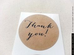 Thank You Round Stickers Circle Labels for favors 1.5inch by OnceUponSupplies via Etsy