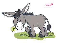 Wandtattoo Nici Donkey mit Klee