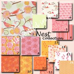 "Custom Crib Baby Bedding - ""Nest Collection"" in Pink by Valori Wells"