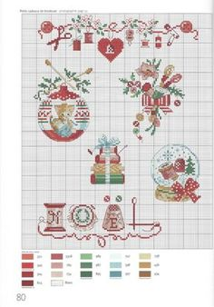 "Photo from album ""mon atelier on Yandex. Cross Stitch Christmas Ornaments, Xmas Cross Stitch, Just Cross Stitch, Cross Stitch Borders, Christmas Cross, Cross Stitch Charts, Cross Stitch Designs, Cross Stitching, Cross Stitch Embroidery"