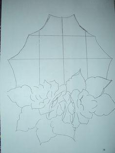 Pintura em Tecido Passo a Passo: Pano de copa com motivo de janelinha