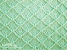 Trellis stitch  |  Knitting Stitch Patterns