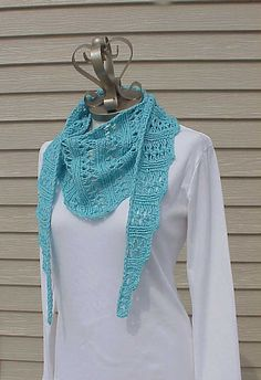 Wiggle Lace Scarf By Kris Basta - Free Knitted Pattern - (ravelry)