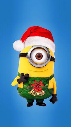 Cute Christmas Minion hd iphone  wallpaper!