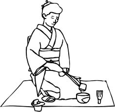 abcteach Printable Worksheet: Japan Theme Unit: Color and Write;Tea Ceremony