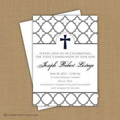 boy communion invitation   invitation. First Communion invitation, Baptism invitation ...
