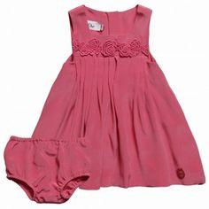 Dior Pink Silk Dress with Pants at Childrensalon.com