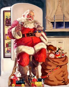 Always loved the Coca Cola Santa...there was just something special about him!