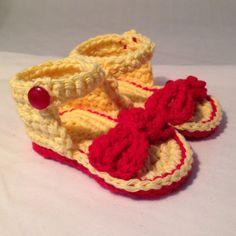 Stylish baby sandals by busyhermits on Etsy Baby Sandals, Baby Shoes, Handmade Baby Items, Handmade Gifts, Crochet For Kids, Knit Crochet, Stylish Baby, Raspberry, Knitting