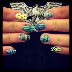 Check out these awesome designs hand painted by Boom Nails! #nailart #beauty