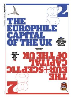 Guardian g2 cover: The Europhile/Eurosceptic capital of the UK.