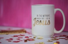 Give me Jesus 16oz gold foil mug by DulyNotedDesign on Etsy