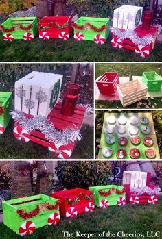 Christmas Decorations - DIY Christmas crate train craft for outside Christmas Train, Winter Christmas, Christmas Home, Christmas 2019, Christmas Island, Homemade Christmas, Christmas Storage, Christmas Garden, Dollar Store Christmas