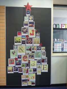 Christmas in the library - could do with book covers or regular cards.