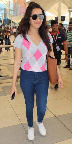 Shraddha Kapoor at Mumbai airport. #Bollywood #Fashion #Style #Beauty #Hot #Sexy