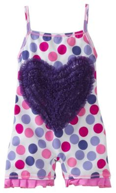 Submarine Baby-Girls Infant Dots Heart Swimwear, « Clothing Impulse so cute for summer..