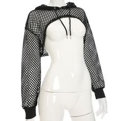 best way to pay off credit cards Gothic Mesh FIshnet Hoodie Shrug Bolero Top Teen Fashion Outfits, Edgy Outfits, Grunge Outfits, Stylish Work Outfits, Gothic Outfits, Short Outfits, Fashion 2017, Fashion Boots, Crop Top Hoodie