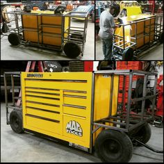 . Garage Tool Storage, Garage Tools, Car Tools, Garage Workshop, Welding Cart, Welding Trailer, Welding Shop, Welding Rigs, Tool Box Cabinet