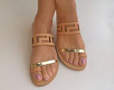 Meandro greci Sandali, sandali, sandali di greci antichi, sandali in pelle, scarpe donna, sandali greci, sandali fatti a mano, regali, sandali, womens Sandali
