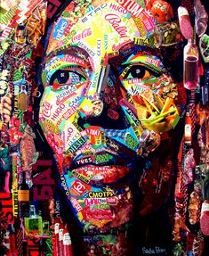 Paper Collage Art, Painting Collage, Kobra Street Art, Bob Marley Art, Tableau Pop Art, Collage Portrait, Pop Art Wallpaper, Art Drawings Beautiful, Dope Art