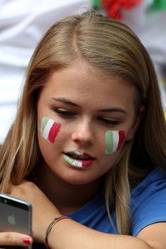 #FranceFR #Euro2016 A fan of Italy looks on prior to the UEFA Euro 2016 Round of 16 match between Italy and Spain at Stade de France on June 27 2016 in Paris France