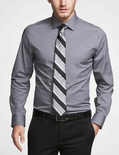 Bichromatic tie matching pants tie stripe and shirt tie for Express shirt and tie