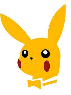 Pikachu as the Playboy Bunny symbol. Pikachu Pikachu, Pokemon, Playboy Logo, Playboy Bunny, Cultura Pop, Funny Cute, Hilarious, Illustrations Posters, Nerdy