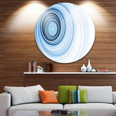 Shop for Designart 'Blue Radio Waves' Abstract Digital Art Disc Metal Wall Art. Get free delivery at Overstock.com - Your Online Art Gallery Shop! Get 5% in rewards with Club O! - 20850454