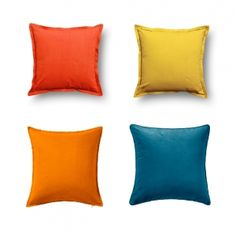 Sofiabrands Black/Red 18X18 Inch Cushion Cover ( 4 Pcs Set) Without Filler