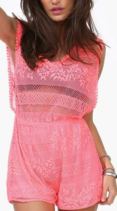 Beach Romper! I love this material but would like to try and make it in a different color....maybe white :)