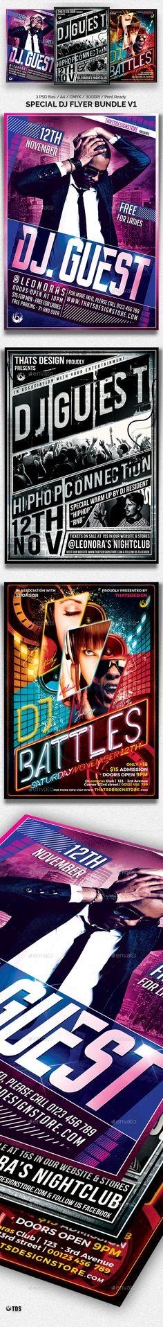 Special DJ Flyer Bundle V1 - Clubs & Parties Events