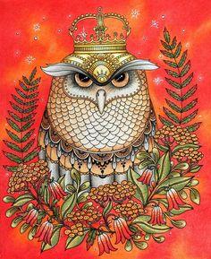 "312 Likes, 33 Comments - Radka (@gate_naty) on Instagram: "" #hannakarlzon #dagdrömmar #zasneni #owl #coloringbook #coloringpencils #coloringbookforgrownups…"""