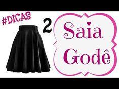 Todos os tipos de Saia molde e costura Alana Santos Blogger - YouTube
