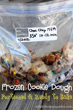 How to Freeze Your Favorite Cookie Dough:  Have hot fresh cookies anytime the craving hits!