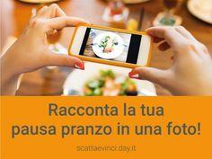 Utilizzi buoni pasto Day o buoni elettronici Day Tronic?  Racconta la tua pausa pranzo per immagini, puoi vincere Buoni Regalo Cadhoc.  Carica foto direttamente dal tuo smartphone e condividile: #scattaevinciconday  Contest: https://scattaevinci.day.it/  News: http://bit.ly/scattaevinciconday