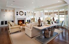 Kristin Peake Interiors, LLC. Console, baskets, neutrals #neutral #livingroom