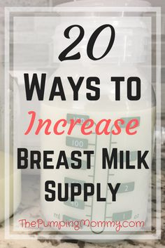 20 Ways to Increase Breast Milk Supply - Need a boost in your milk supply? Going back to work after maternity leave and need a freezer stash? Here are 20 proven ways to increase your breast milk supply! Visit for more! Baby Kicking, Baby Supplies, Milk Supply, Be My Baby, After Baby, Pregnant Mom, First Time Moms, Breastfeeding Tips, Baby Sleep