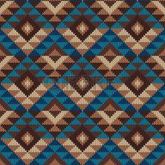 Traditional Tribal Aztec Pattern. Seamless Knitting Ornament photo