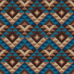 Traditional Tribal Aztec Pattern. Seamless Knitting Ornament photo