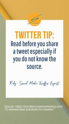 10 Retweet Best Practices for Tweeters   How to Quote Tweet Properly  #TwitterHack #businesstip #TwitterMarketing #B2B Twitter For Business, Business Tips, Twitter Tips, Tweet Quotes, Best Practice, Success, Marketing, Reading, Word Reading