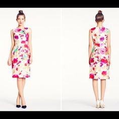 kate spade new york bowden sheath dress kate spade bowden dress in giverny floral print. size 4. flattering sheath dress with pleat details along neckline and banded waistline. beautiful worn alone or layered over a white poplin top!  MORE PICS TO COME! kate spade Dresses