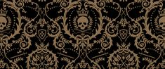 Crowned skull damask wallpaper  - perfect for my daughters' bedroom!
